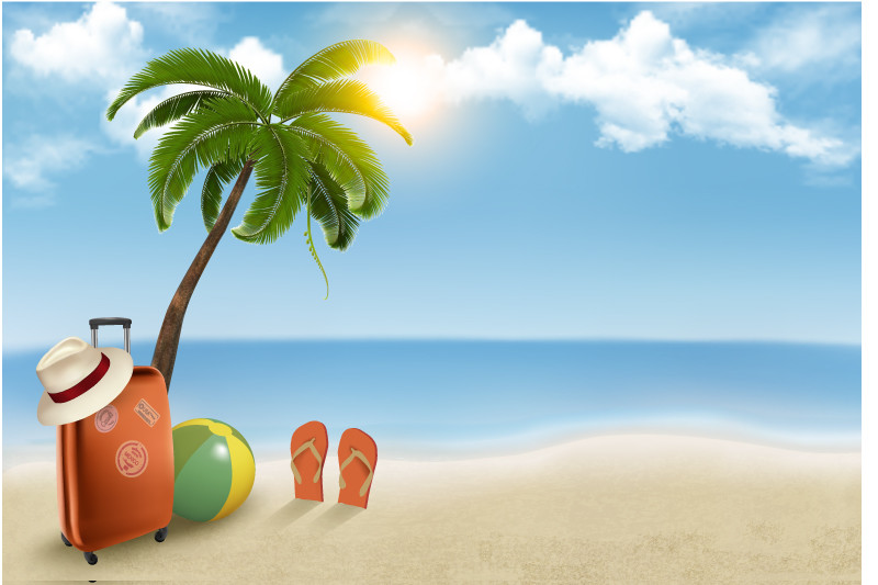 Summer-Beach-Vacation-Background-Vector